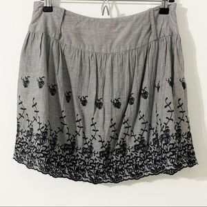 Rue21 Embroidered Fully Lined Cotton Mini Skirt